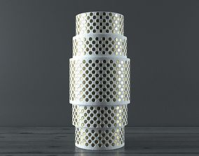 realtime Rain Gold Vase Low-poly model