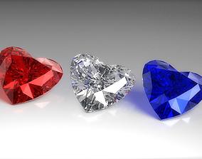 Heart Diamond 3D asset