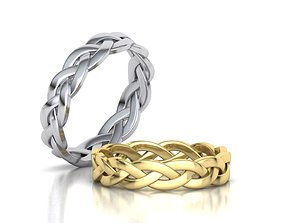 Classic Braided ring 3dmodel Band ring
