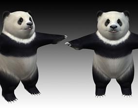 3D Panda Standing Up