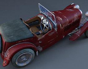 3D model Vintage HRG sports car 1948