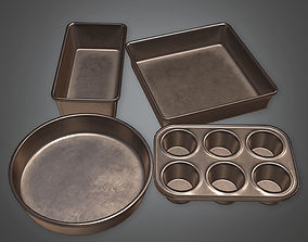 Baking Pans KTC - PBR Game Ready 3D model