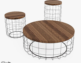 round-table Table Wire Group by Dare Studio 3D model