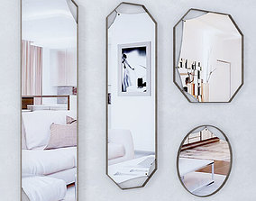 3D Fiam Pinch Modern Mirrors DESIGN LANZAVECCHIA WAI