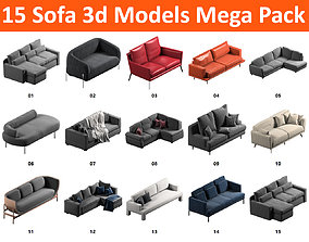 15 Sofa Pack Collection 3D model
