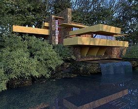 Fallingwater House 3D