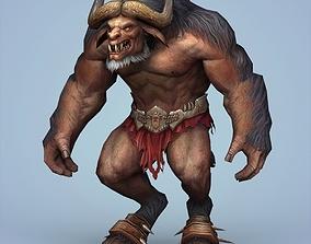Fantasy Monster Warrior Bull 3D asset