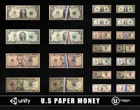 3D asset US Paper Money