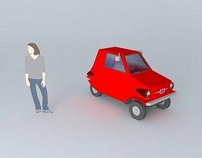 3D Fictional microcar