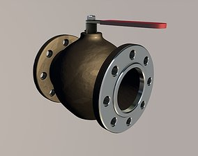 3D asset Pipe ball valve
