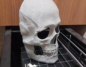 Realistic human skull mask 3D print model