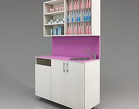 3D head Hair salon furniture with sink