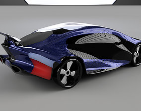car high poly 3D asset