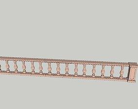 indian jodhpuri stone railing with 3D asset