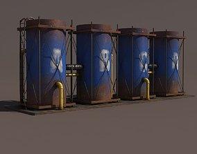 Old Tanks Factory 3D model