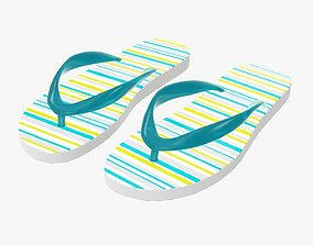 3D model Flip-flops woman summer beach footwear 01