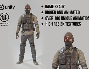 3D model Game Ready Apocalypse Male Character Rigged and