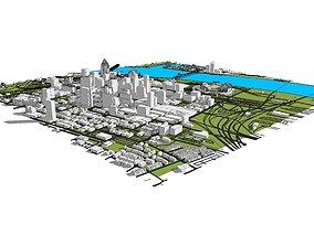 3D Downtown Cincinnati Ohio