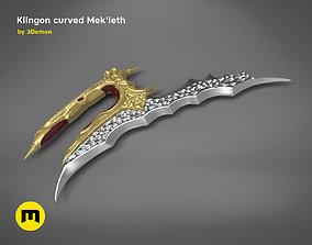 3D printable model Klingon curved Mekleth - Star Trek