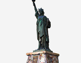 3D asset Low Polygon Art Style Liberty Statue