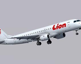 3D model Embraer E190 Lion Air