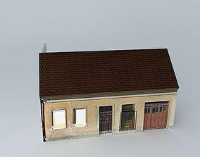 European Mid 20ct House 3D asset