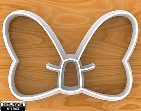 Minnie Mouse Bow Cookie Cutter 3D print model