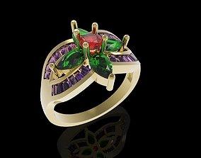 475 Diamond Women ring 3D print model