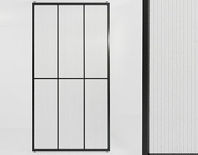 Glass partition door 455 3D asset