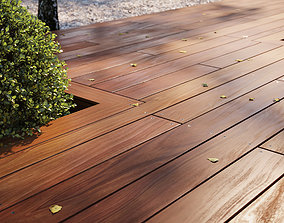 3D model Exotic wood decking texture