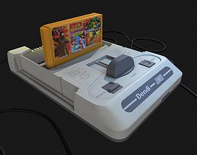 3D model Dendy Junior II with gamepads