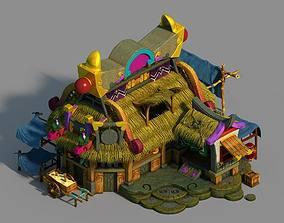 Game Gang Building - Intermediate Warehouse 01 3D