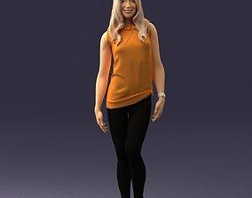 Girl in black leggings 0376 3D Print Ready