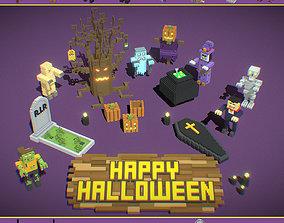 Voxel Halloween Pack 3D asset