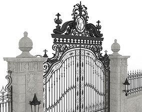 Exterior Mansion Gate 3D model