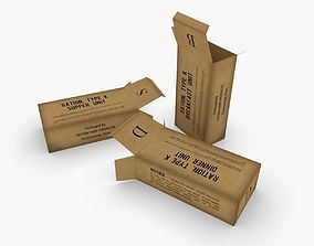 3D asset rigged US K-Ration boxes