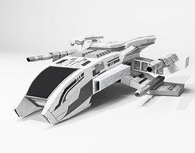 Space Ship 3D model VR / AR ready