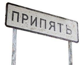 Street Sign USSR 01 09 3D asset