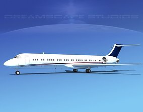 McDonnell Douglas MD-87 Corporate 5 3D model