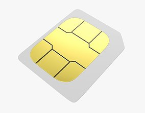GSM SIM card 03 3D
