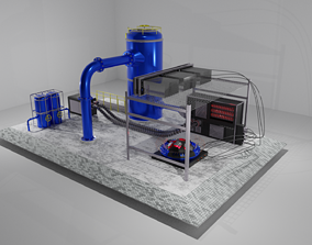 3D model Fictional Industrial Factory Section