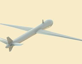 Unmanned airplane 3D
