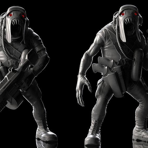 Alien Trooper Zbrush