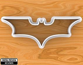 3D print model Batman Emblem Cookie Cutter
