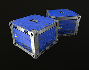 3D model Nuclear waste container