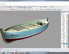 3D model rowboat 4 meter