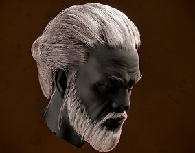 Low Poly Man Realtime Hairstyle 3D model