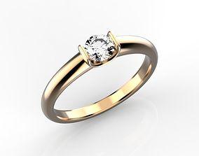 Diamond engagement ring 3D printable model jewelry
