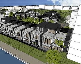 3D model residential blocks