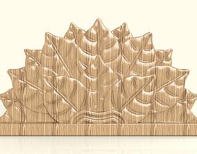 3D printable model BED HEADBOARD - LEAVES